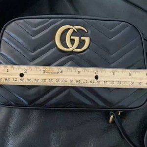 🎀NEW Authentic GUCCI GG Marmont Small Camera Bag